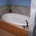 Tub surround and floor - tile